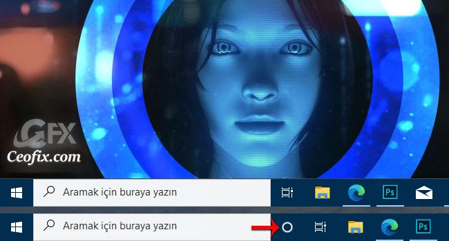 Windows 10'da Görev Çubuğunda Cortana Butonu Nasıl Gizlenir