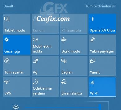 Windows 10'da WiFi Simgesi Yok?