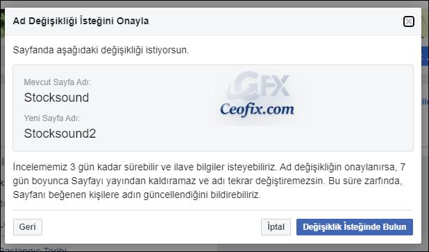 Facebook sayfa ismi nasıl değiştirilir?