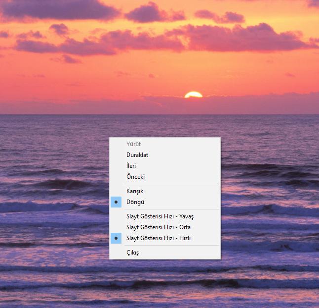 Windows Gezgini'nde Slayt Gösterisi Özelliğini Kullanma