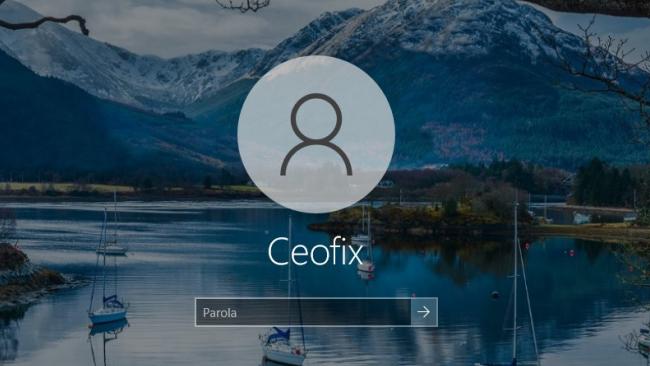 Windows 10 Oturum Açma Ekranında Bulanıklık Efektini Kaldır