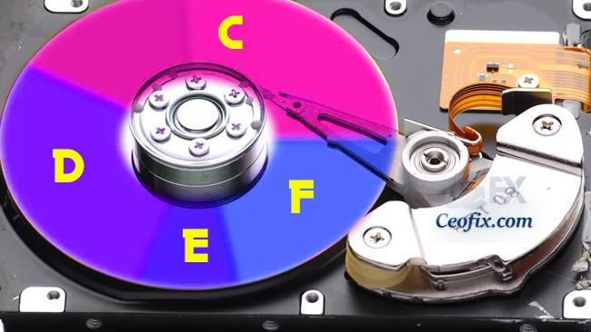 Windows 10'da C Diskini Küçültüp D-E Dizini Nasıl Yapılır