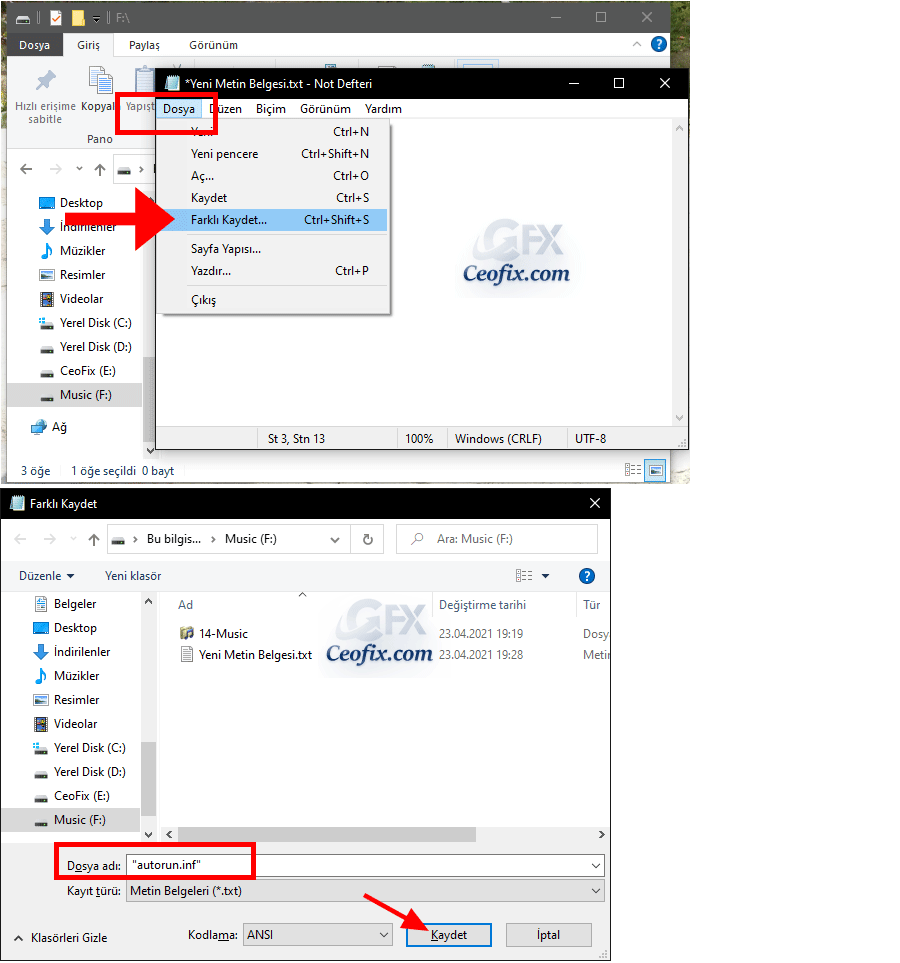 HDD veya Flash Sürücülerinize Özel Bir Simge ve Etiket Ekleyin