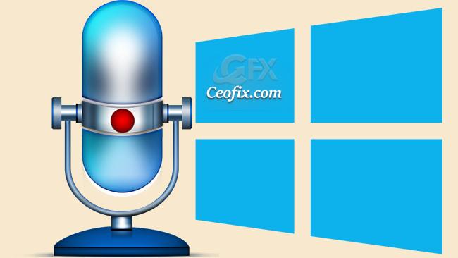 Windows 10 'da Yerel Ses Kaydedici Uygulamasını Kullan