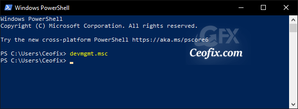 power shell devmgmt msc