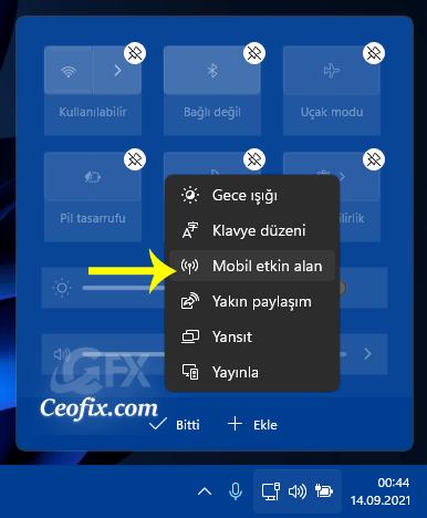 Windows 11'de Hızlı Eylem Kısayollarını Özelleştirin