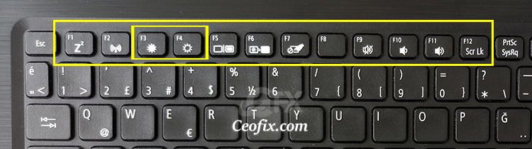 Windows 11'de Klavyeyi kullanarak parlaklığı ayarlayın